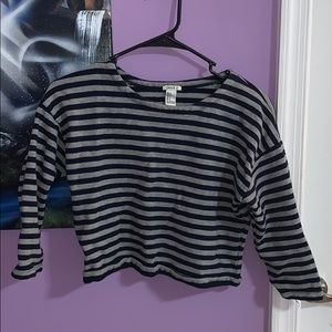 Cropped sleeve sweater shirt